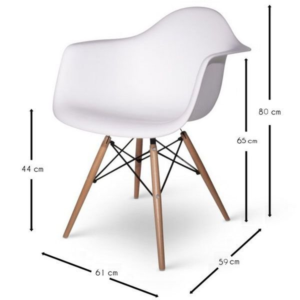 Chaise DAW Charles Eames Chaises design Meubles & Design