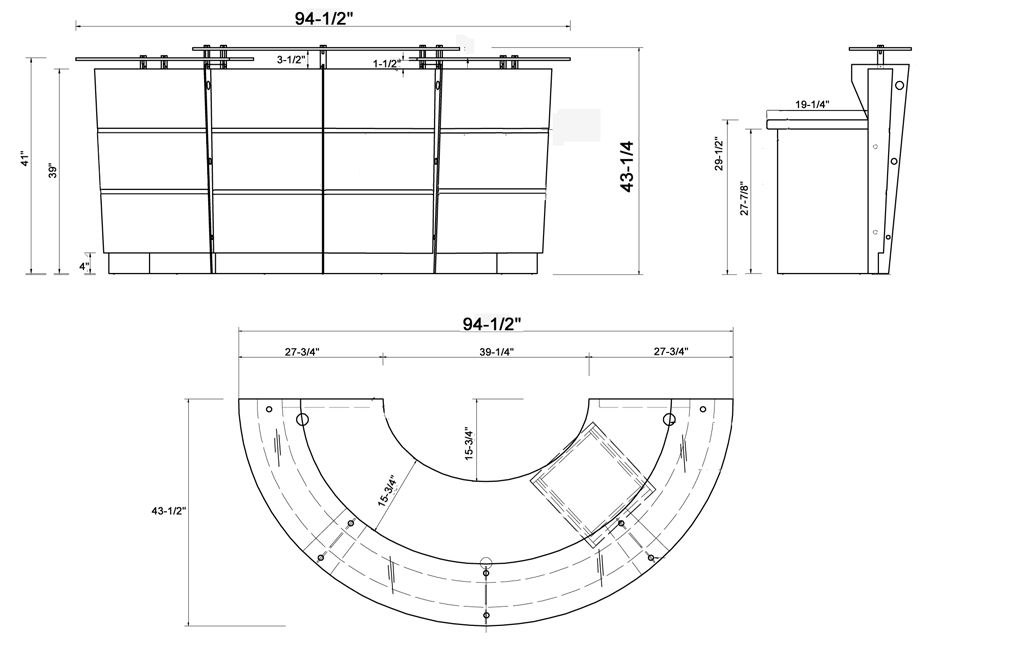 Reception Desk Dimensions Google