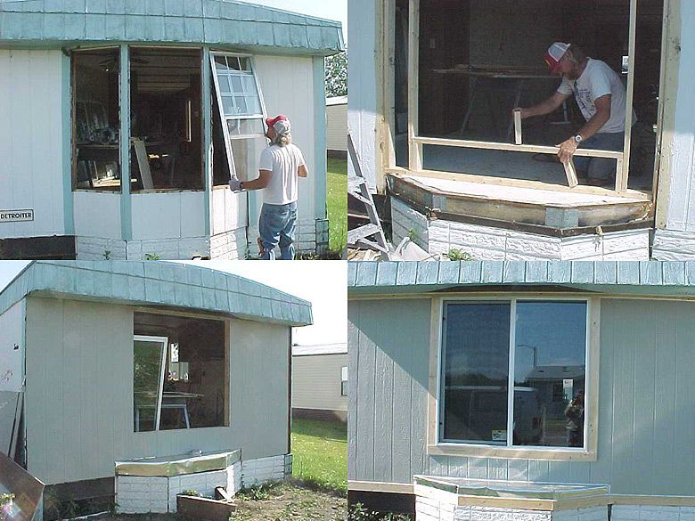 How To Replace A Leaky Rotten Bay Window Mobile Home Repair Mobile Home Decorating Mobile Home Repair Manufactured Home