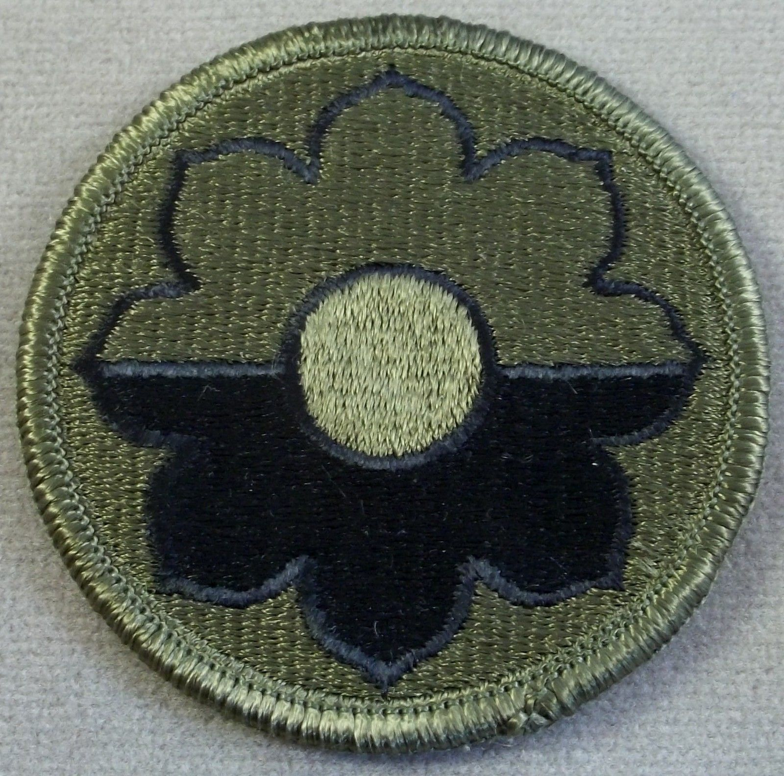 US Army 9th Infantry Division Subdued Merrowed Edge Patch