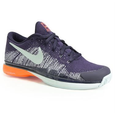The All New Nike Zoom Vapor 9 5 Flyknit Men S Tennis Shoe Has A Dynamic Fit System That Wraps The Mid Foot A Mens Tennis Shoes Mens Athletic Shoes Tennis Shoes