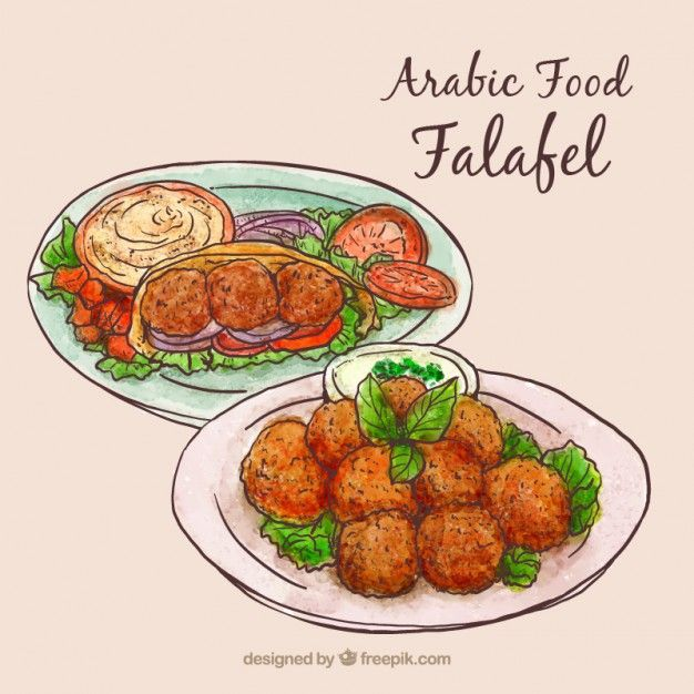 Hand drawn arabic food menus Free Vector | My freepik