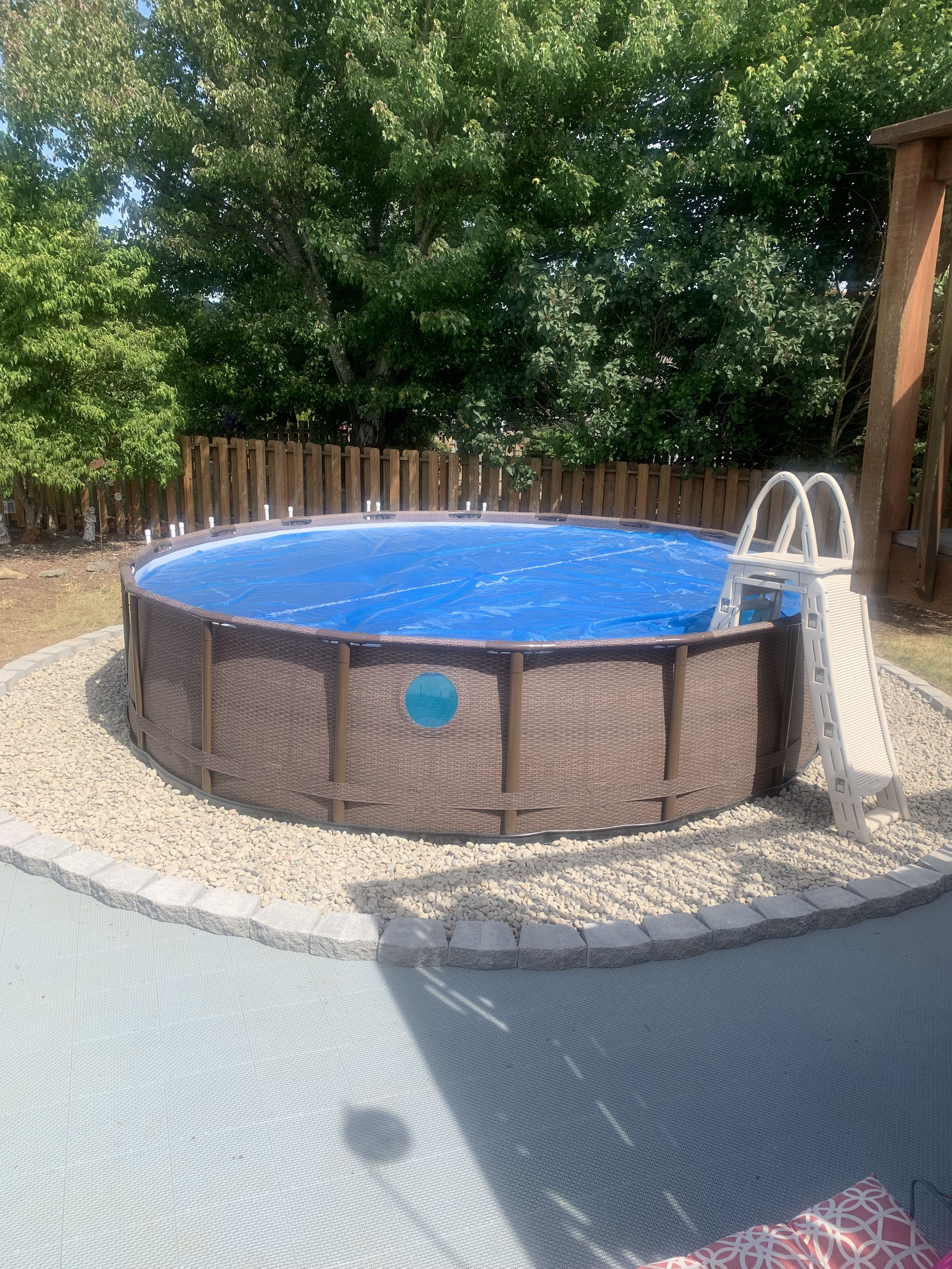 If You Re In The Confusion Of Choosing Which One You Should Go With In Ground P Above Ground Pool Landscaping Backyard Pool Landscaping Best Above Ground Pool