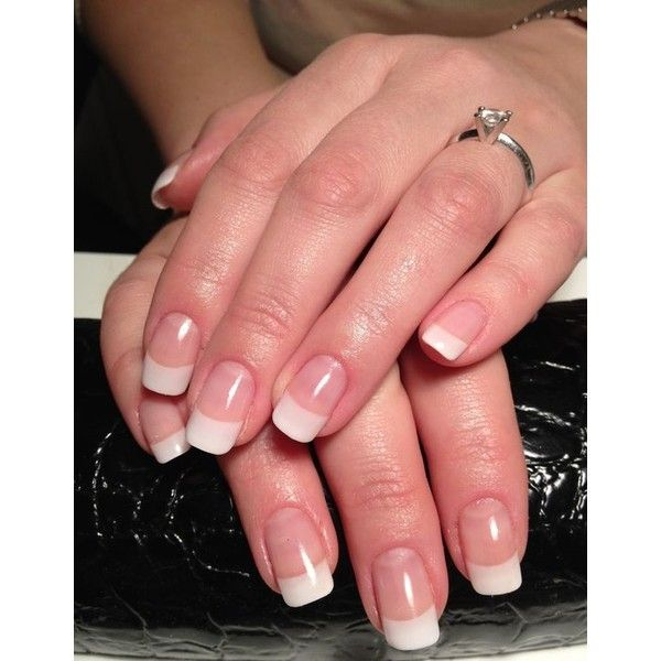 French Manicure On Long Natural Nails Papillon Day Spa