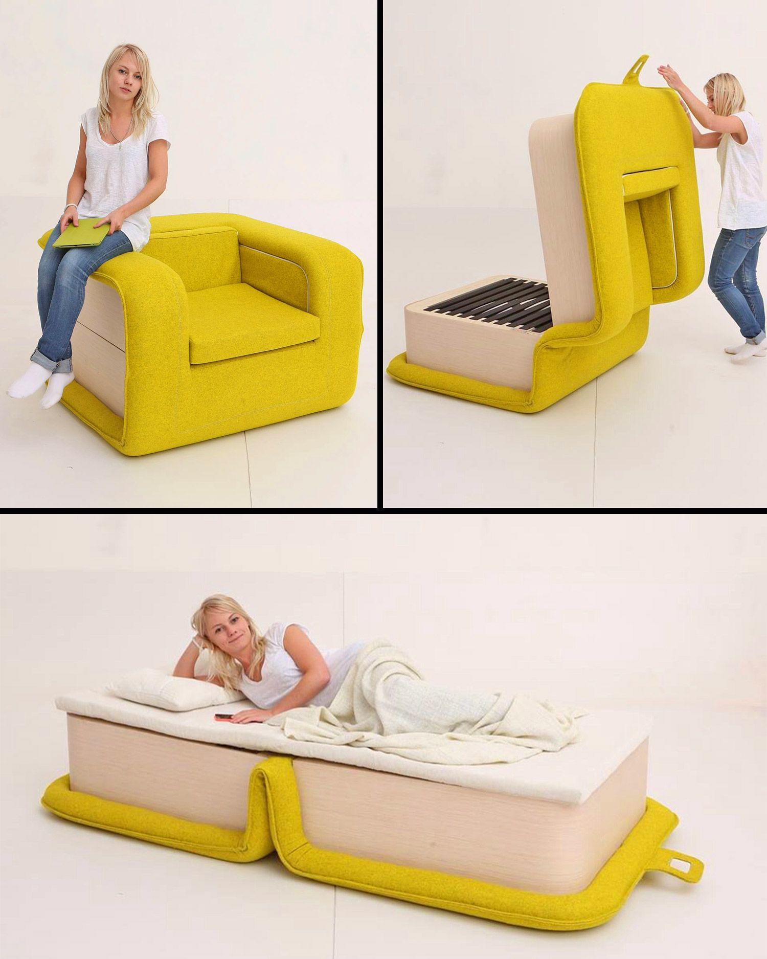 The Flop Multi Functional Arm Chair Instantly Turns Into A Bed In 2020 Bed Chair Armchair