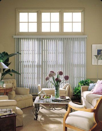 Vertical Blinds For Large Window Big Window Coverings Living Room Window Treatments Www Sunkis Sliding Patio Doors Window Coverings Living Room Patio Doors