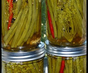 Spicy Pickled Green Beans | Big Oven