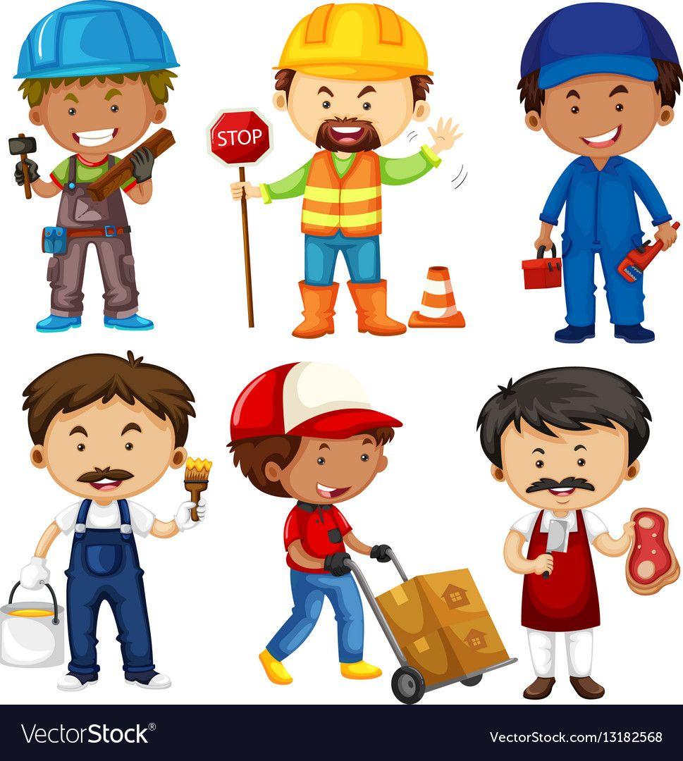 Download Different Jobs Cartoon JPG