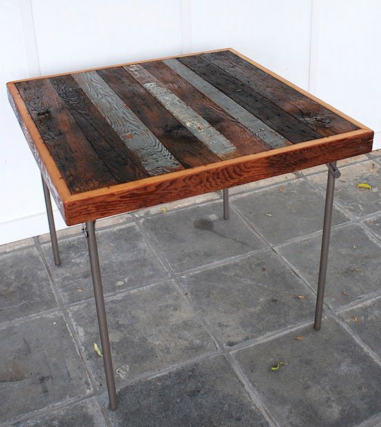 wooden card table | ... gorgeous reclaimed wood card table makeover from The Merrythought