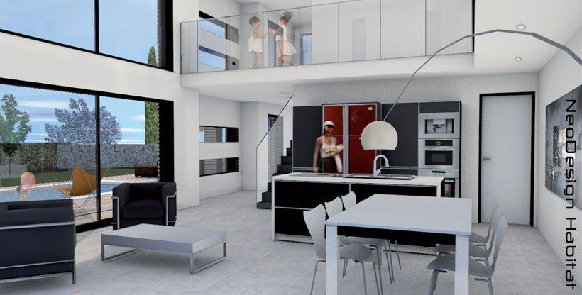 plans de maison avec loft recherche google salon pinterest recherche et loft. Black Bedroom Furniture Sets. Home Design Ideas