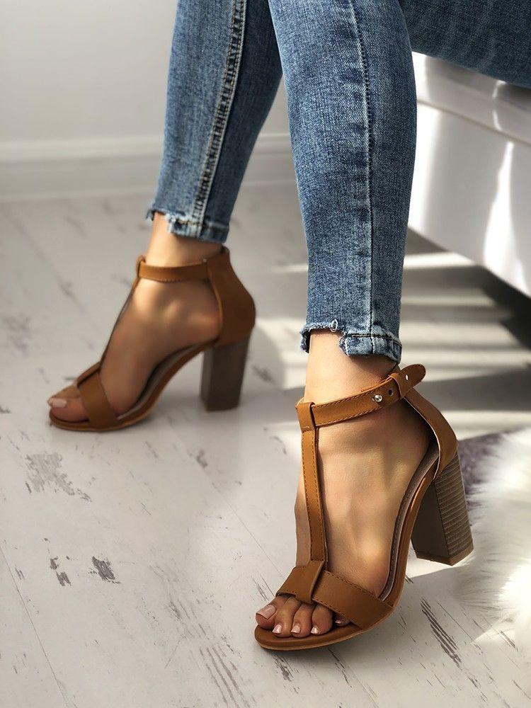 Chunky Brown Heels