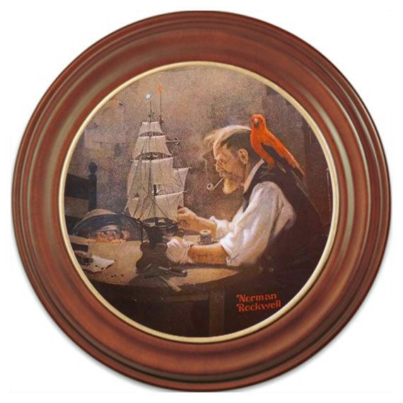 Norman Rockwell The Ship Builder Heritage Collector Plate 4 1980 Knowles LE. $14.99