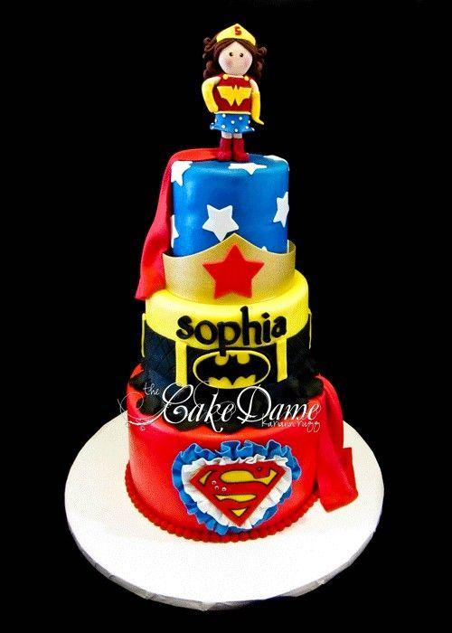 Girl super hero cake wedding cakes pinterest
