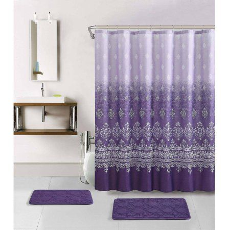 Home With Images Purple Shower Curtain Purple Bathroom