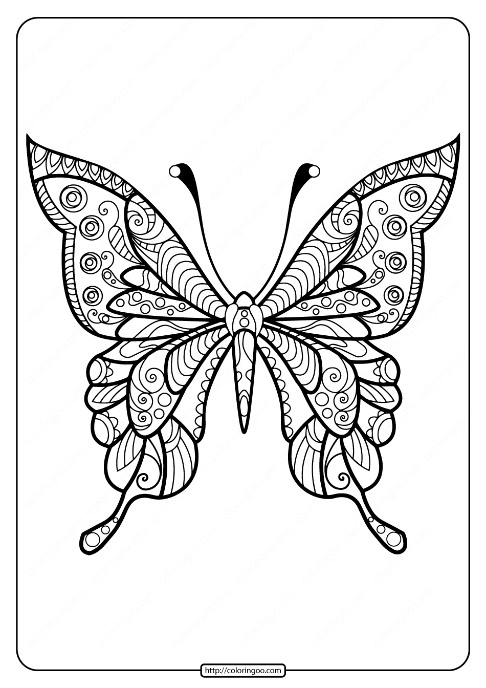 Printable Butterfly Mandala Pdf Coloring Pages 40 In 2020 Insect Coloring Pages Butterfly Coloring Page Butterfly Printable