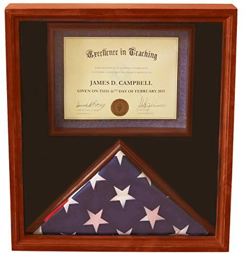 Decomil 3x5 Flag Display Case With Certificate Document Holder Big Frame Click On The Image For Additional Det Flag Display Case Flag Display Display Case