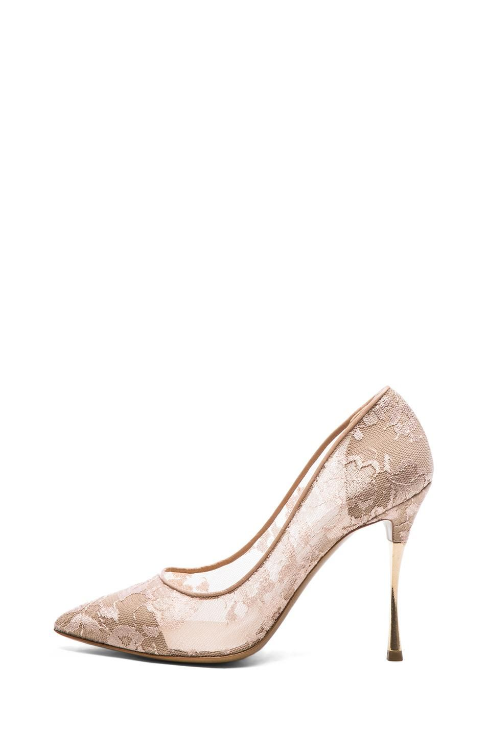 3cab035a16a Nude Bridal Shoes Lace Heels Pointy Toe Stiletto Heel Pumps in 2019 ...