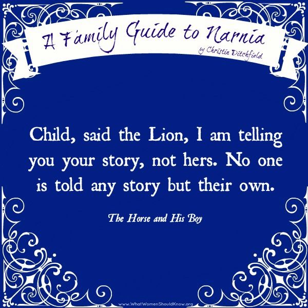"""Narnia: """"No one is told any story but their own..."""" ~ The Horse and His Boy"""