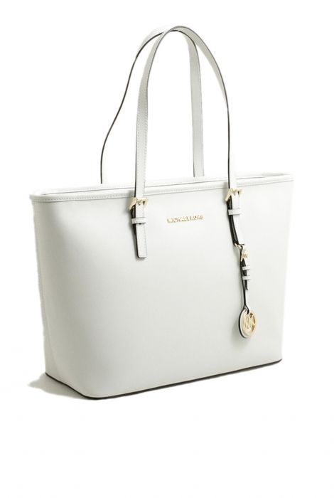 Michael Kors white jet set travel tote bag borsa jet set travel tote bianca Michael  Kors Spring Summer 2016 shop online 7af430d9819