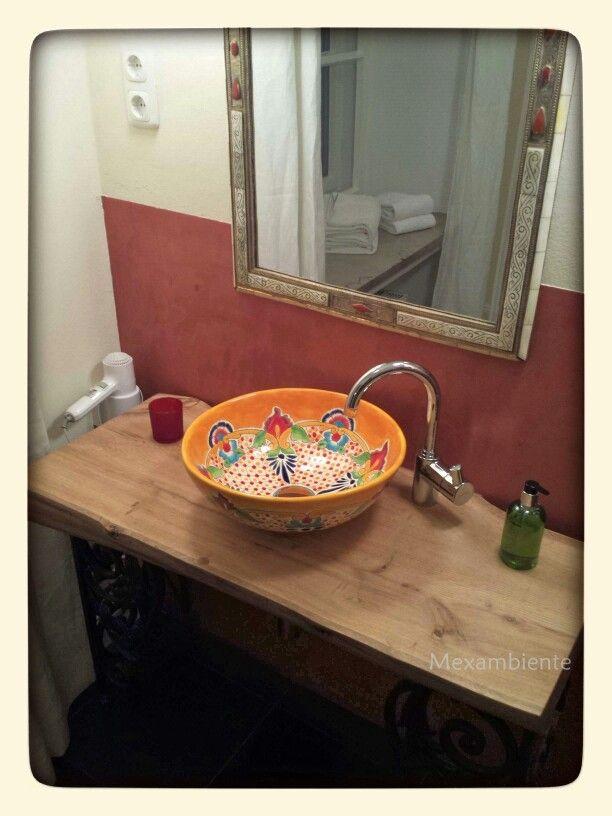 Mexikanische Waschbecken Handmade Von Mexambiente Im Hotel Schloss  Blumenthal #badezimmer #hotel #bunt #