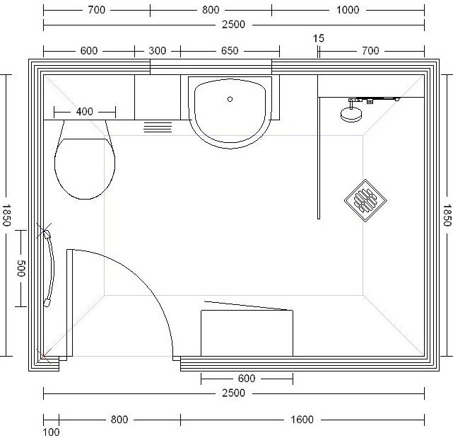 Wc dimensions uk google search home design and decor for Bathroom for disabled plan