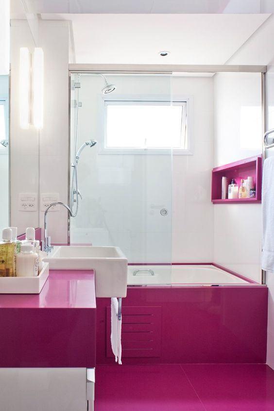 dekostile.com   Rosa badezimmer, Badezimmer ...