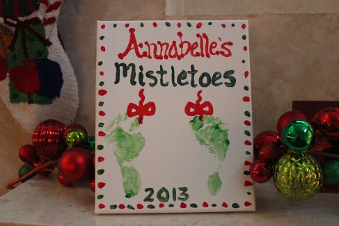 Christmas Crafts For 1 Year Olds.Mistletoes Craft For Toddlers Or Babies Crafts For 1 Year
