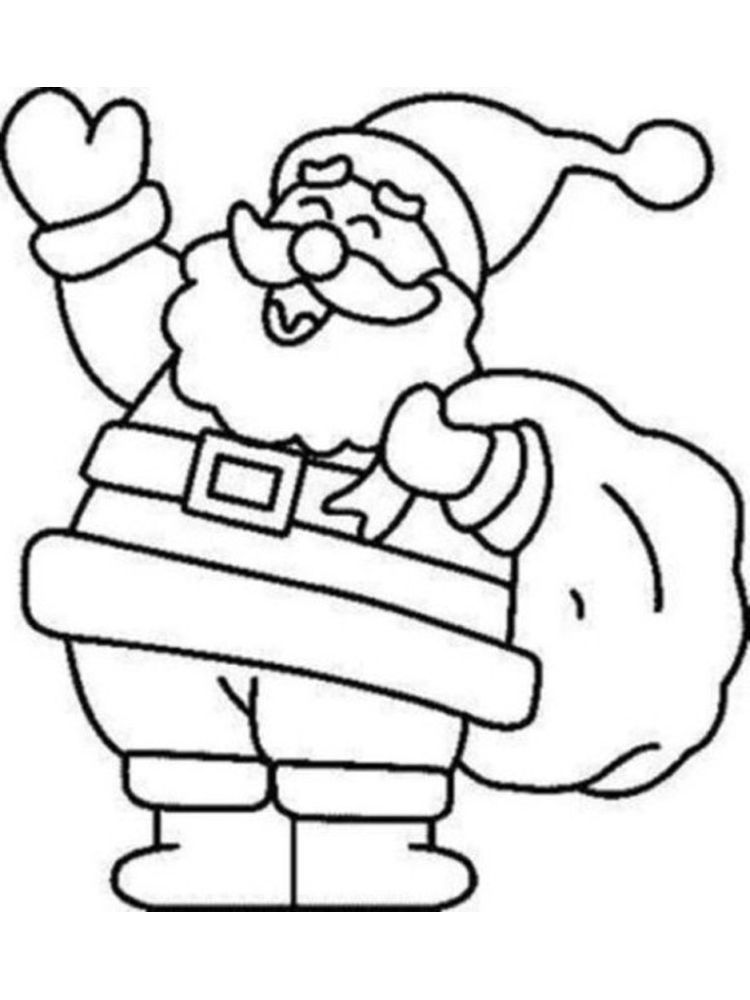 Free Santa Coloring Page Santa Coloring Pages Christmas Coloring Sheets Christmas Coloring Pages