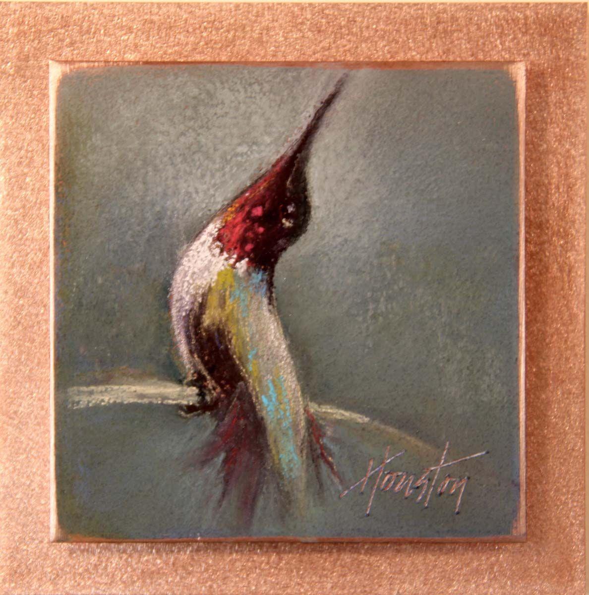 Morning Stretches (Hummingbird Painting, Bird art, Art