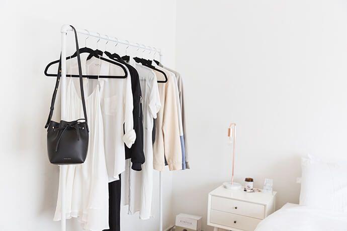 white clothing rack