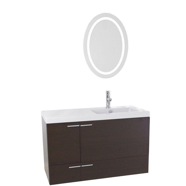 "New Space 39"" Single Bathroom Vanity Set with Mirror"