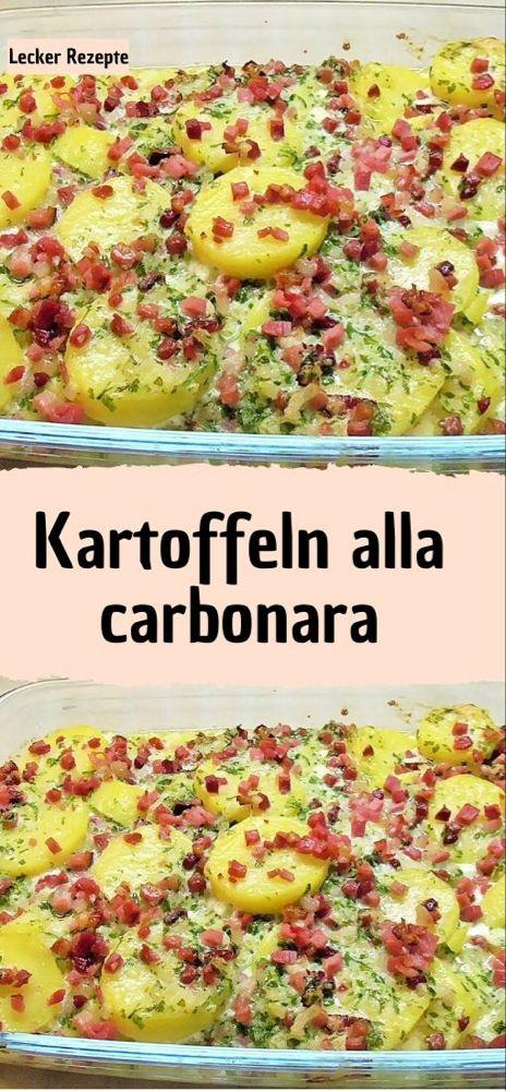 Kartoffeln alla carbonara – Rezepte
