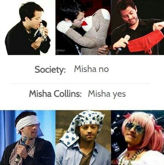 Haters Dont Get Him We Love Him Supernatural Pinterest Misha