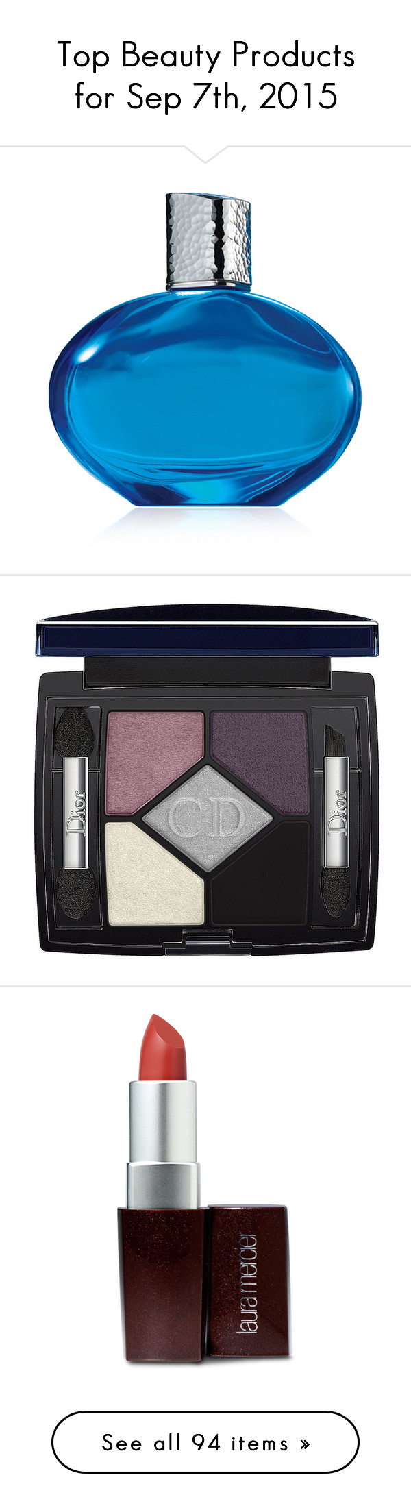 """""""Top Beauty Products for Sep 7th, 2015"""" by polyvore ❤ liked on Polyvore featuring beauty products, fragrance, perfume, beauty, makeup, blue, filler, elizabeth arden fragrance, eau de parfum perfume and eau de perfume"""