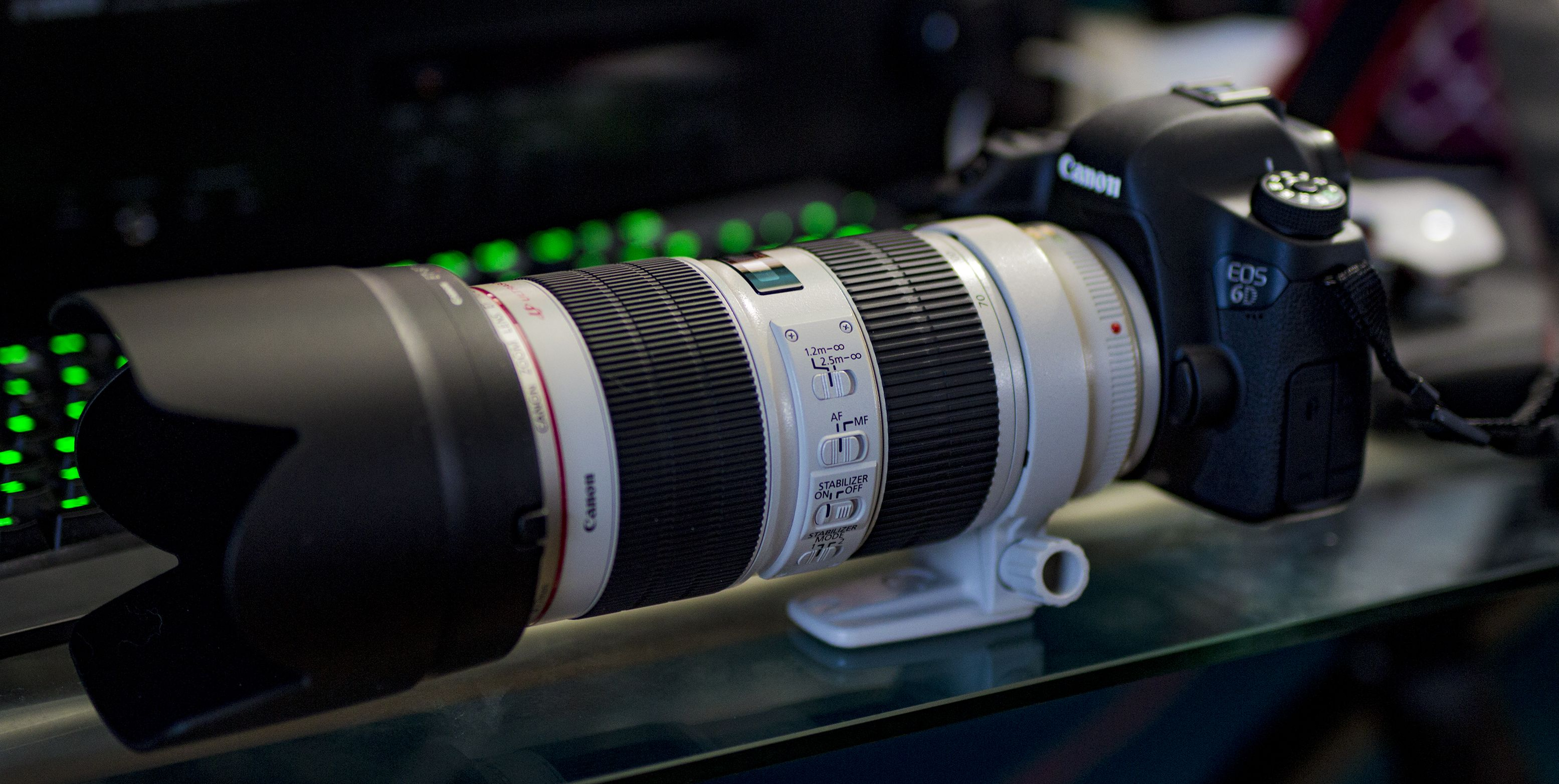 Canon EF 70-200 f/2.8L IS II USM mounted to a Canon 6D with an ...