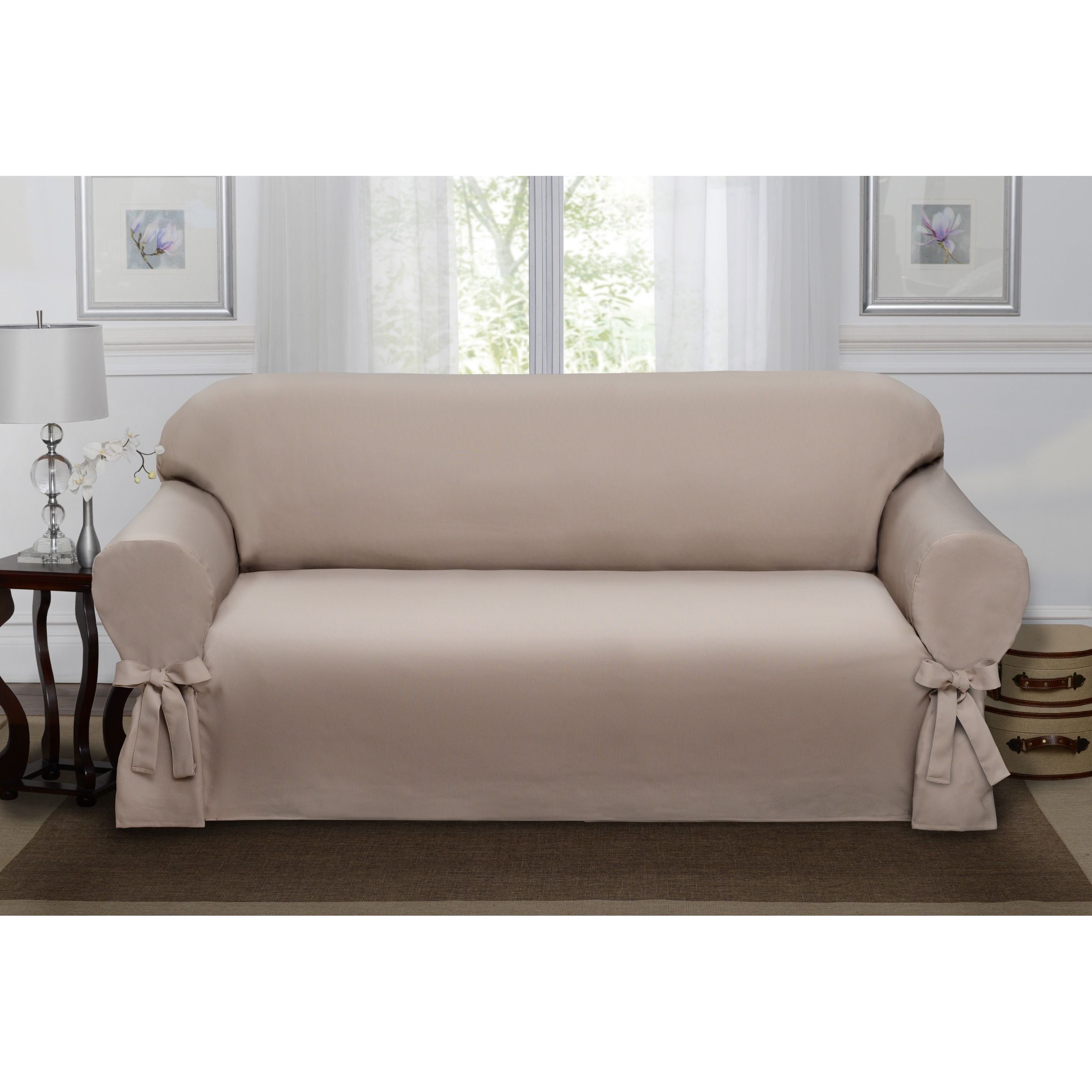 Madison Lucerne Sofa Slipcover Paprika Sofa Orange Solid
