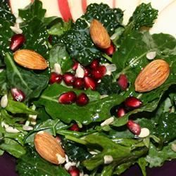 Kale Salad with Pomegranate, Sunflower Seeds and Sliced Almonds - Allrecipes.com