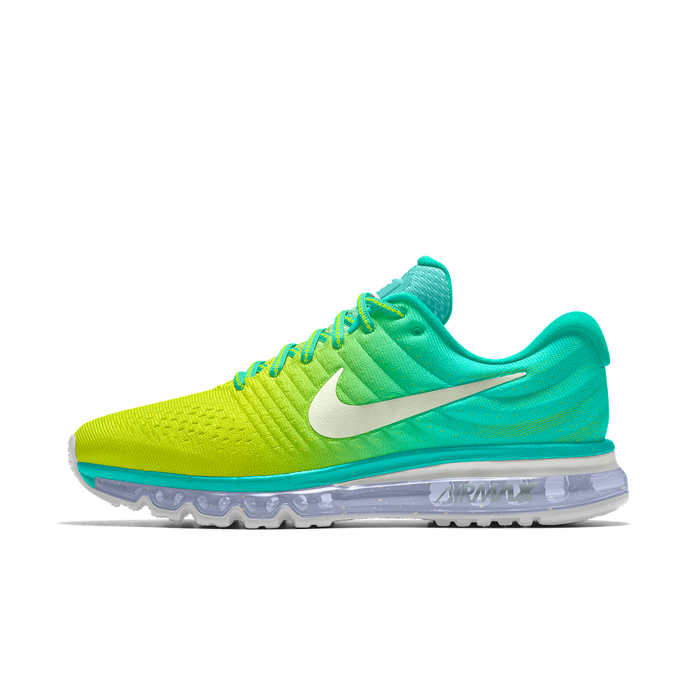 best authentic b32b2 a888f Nike Air Max 2017 iD Women s Running Shoe Size 7 (Yellow) - Clearance Sale