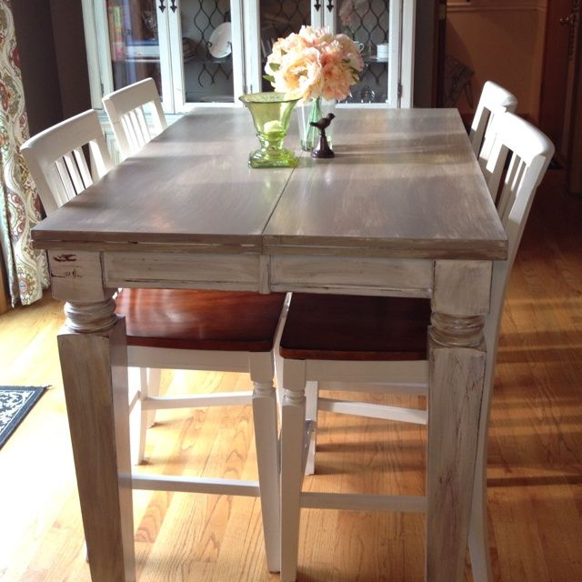 Pin By Heather Nolen On Painted Furniture Distressed Kitchen