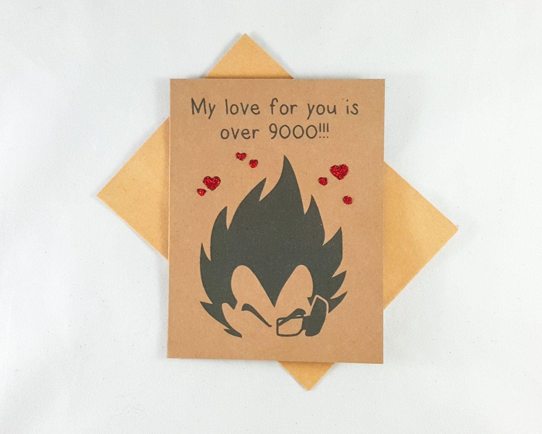 Vegeta Dragon Ball Funny Card Boyfriend Card Anime Pun – Valentines Card for My Boyfriend
