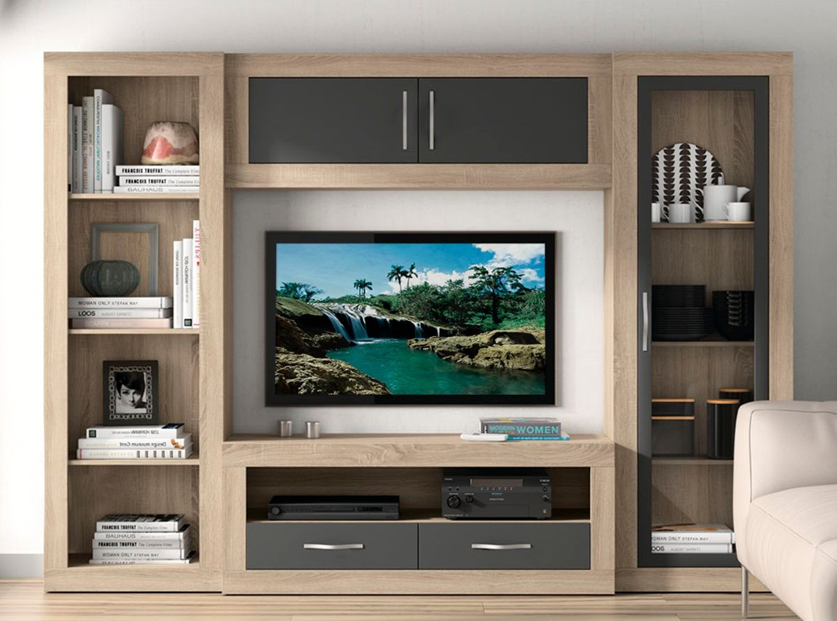 Muebles De Salon Entertainment Unit Pinterest Tvs Tv Walls  # Muebles De Salon