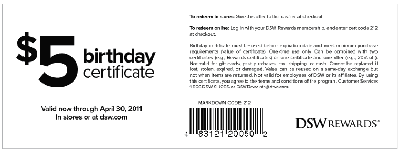 Free Printable Dsw Coupon June 2015