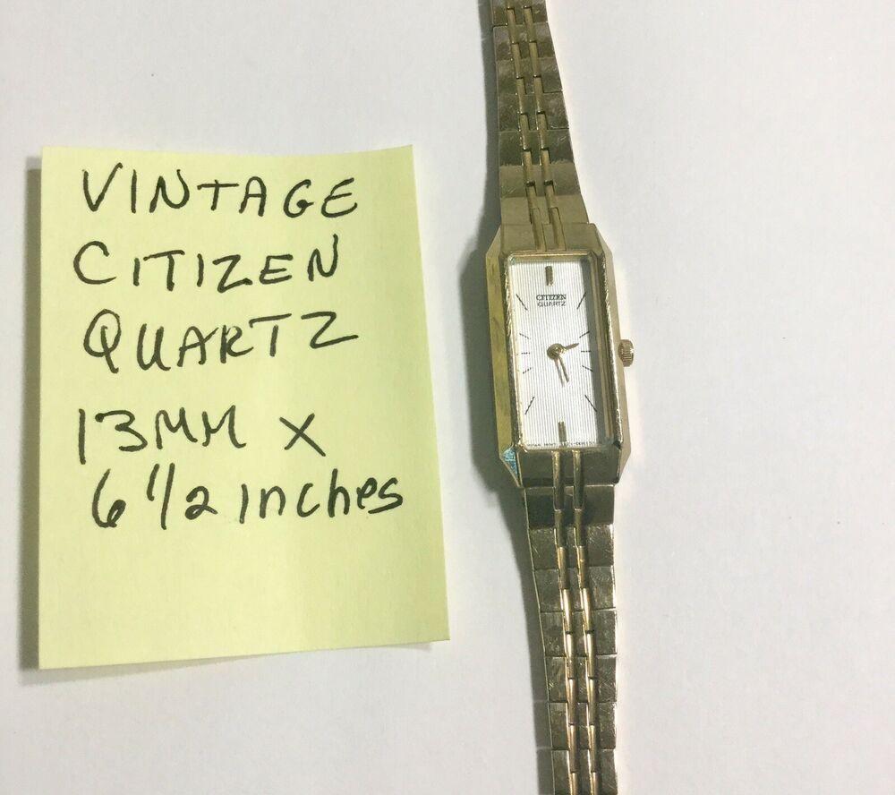 Vintage Ladys Citizen Quartz Bracelet Wristwatch Running