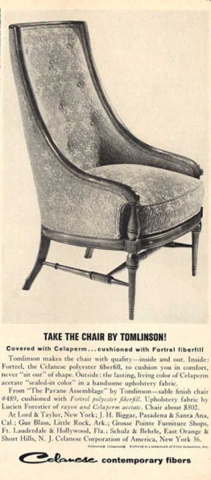 Tomlinson Furniture Chair Pavane Emblage 1963