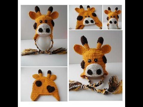 Giraffe Animal #Hat - Giraffe Earflap Hat - Baby to Adult Sizing - Handmade Crochet - Made to Order #Cap #Accessory https://www.etsy.com/listing/250557328/giraffe-animal-hat-giraffe-earflap-hat?ref=shop_home_active_80
