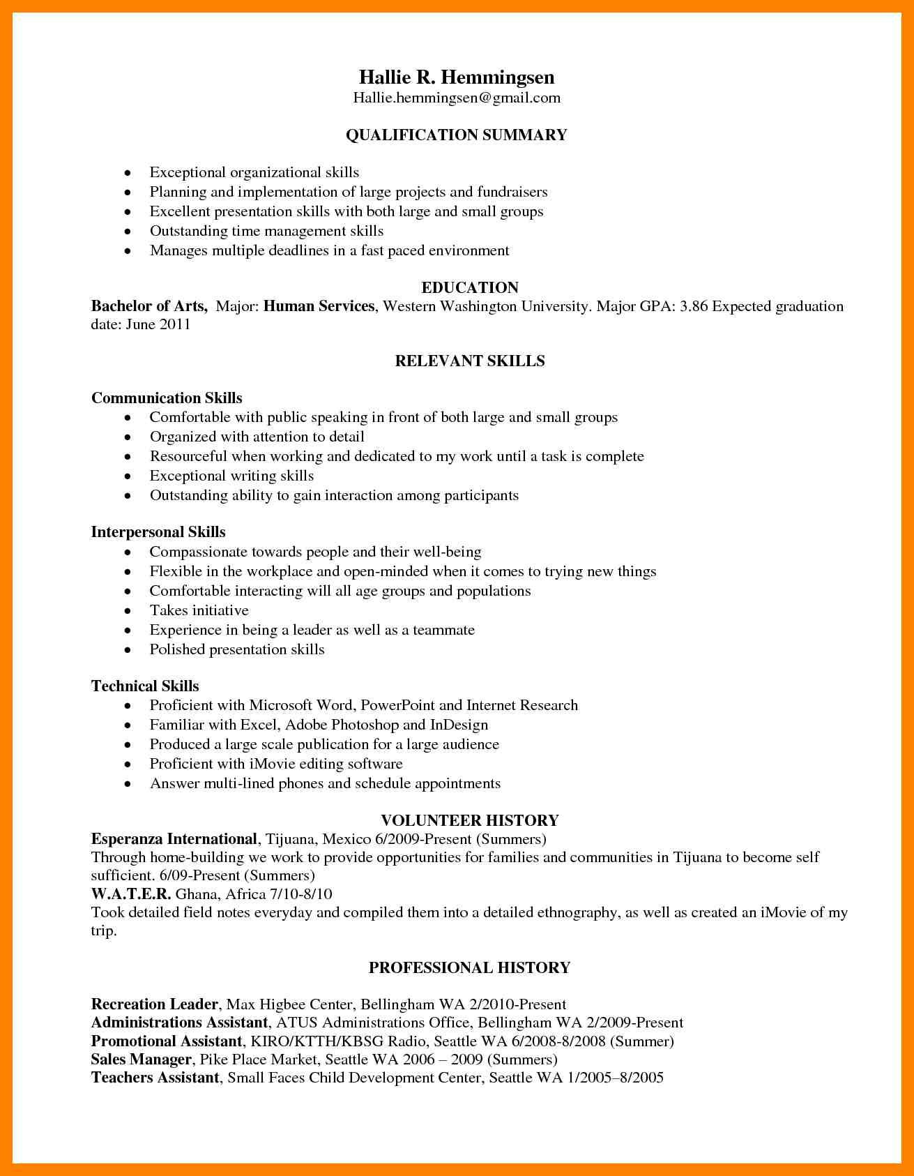 Image result for skill based resume examples Uusi työ