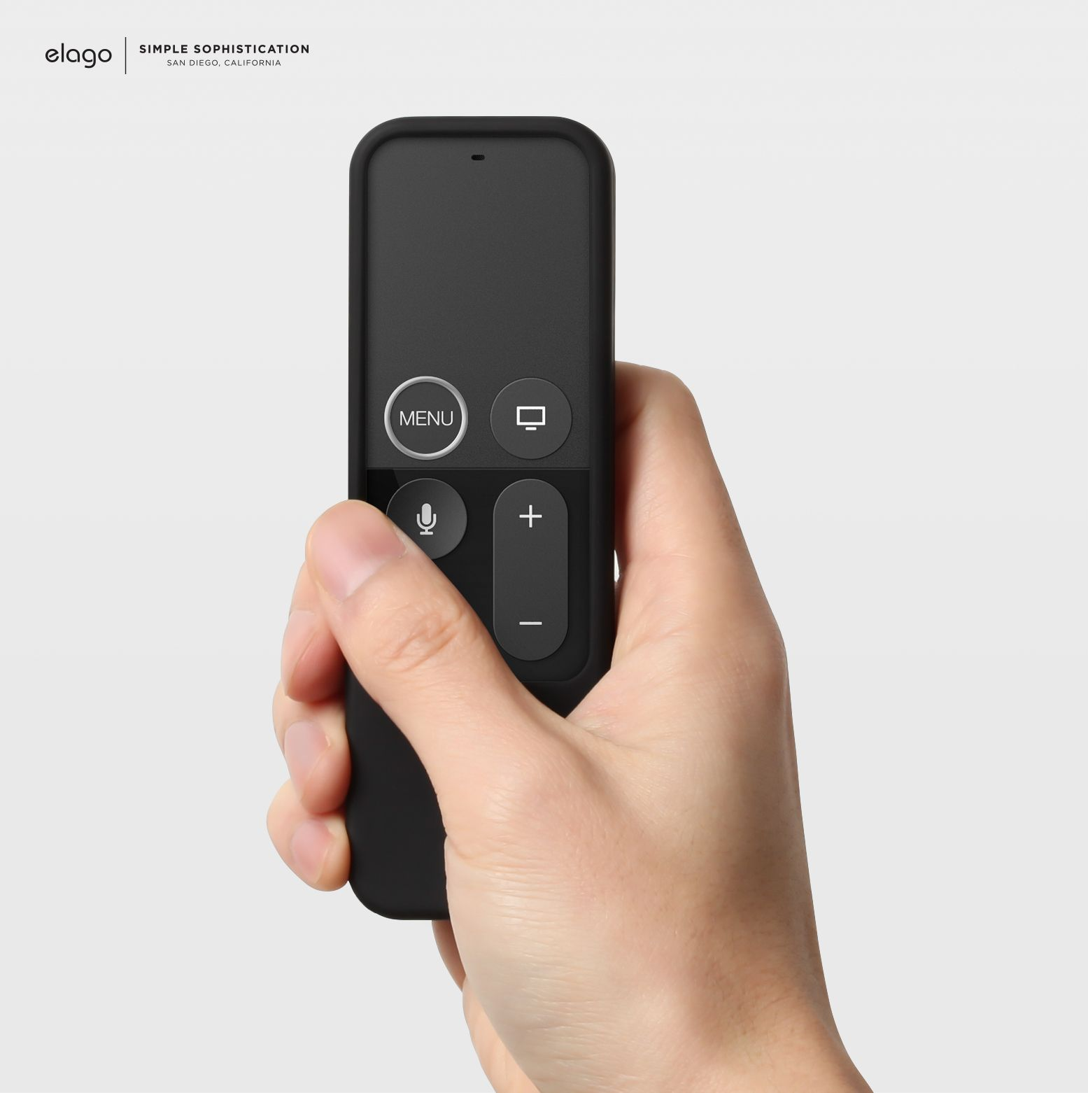 New, elago R2 Slim Case for Apple TV Siri Remote Black
