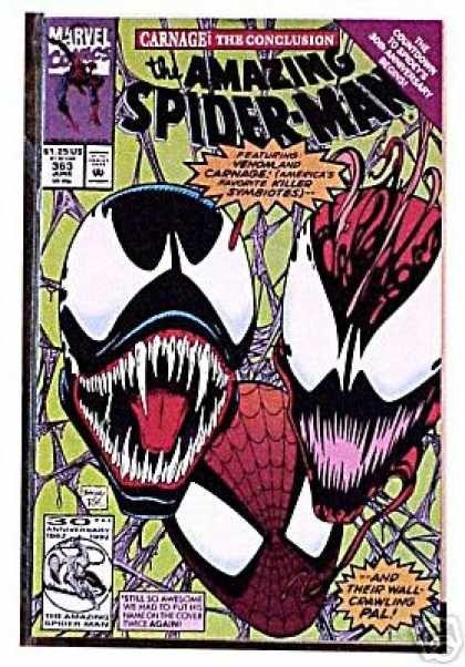 Venom Fangs Carnage Marvel Creature Mark Bagley Spiderman Comic Spiderman Amazing Spider