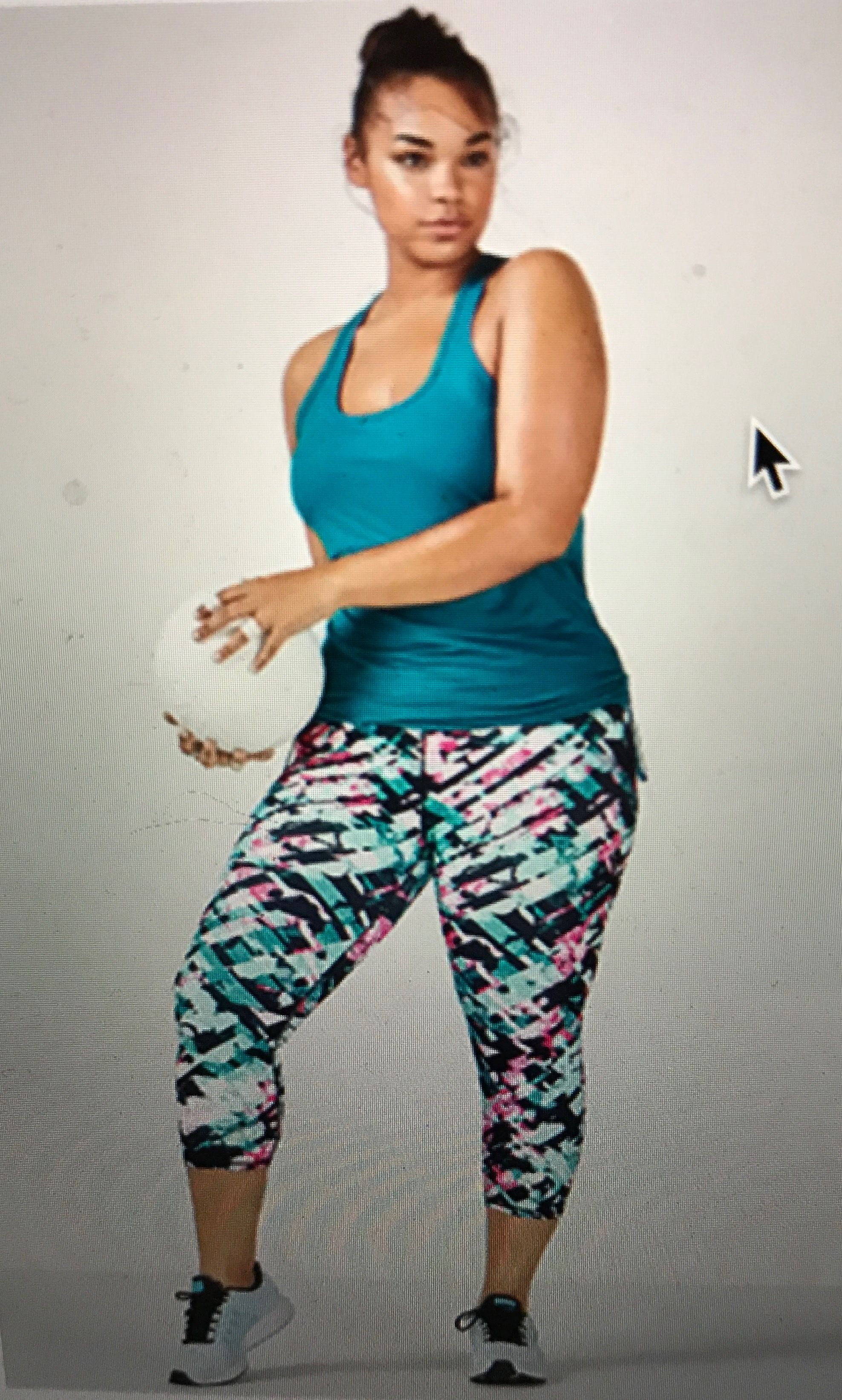 781bbb332816 Fabletics Plus Size athletic fashion! Syntax 2 piece outfit. Keep it bright  and keep