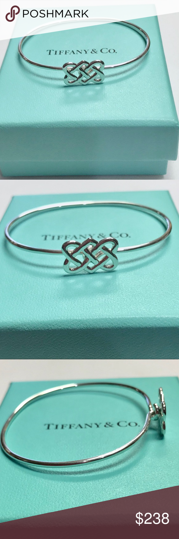 af043b5a3 Tiffany & Co Celtic Knot Vintage Bracelet This Tiffany & Co. Celtic Knot  bracelet was designed by Paloma Picasso and features sterling silver, ...